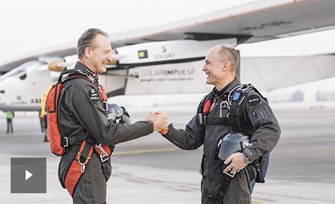 vidéo André Borschberg et Bertrand Piccard