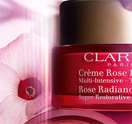Rose Radiance Cream jar with Hibiscus Flower
