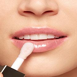 Black Lip Comfort Oil result on lips